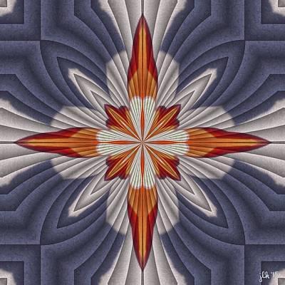 Digital Art - Orange And Red Cross by Lori Kingston