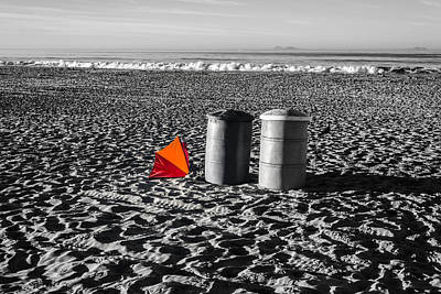 Trash Can Photograph - Orange And Red by Joseph S Giacalone