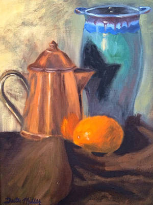 Painting - Orange And Two Pots by Dustin Miller