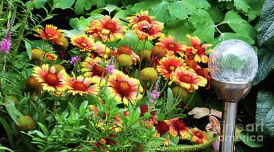 Photograph - Orange And Yellow Flowers W/bee by Leara Nicole Morris-Clark