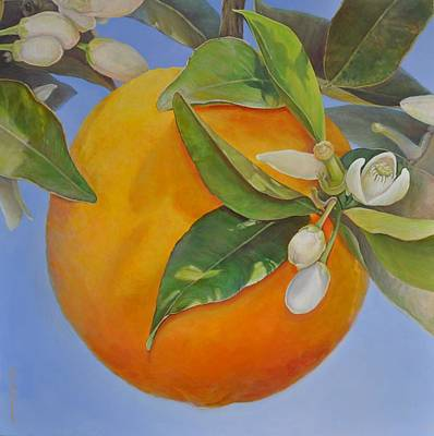 Painting - Orange Au Soleil by Muriel Dolemieux