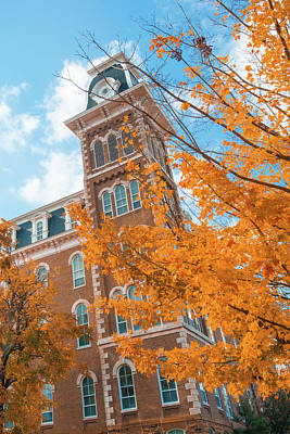 Photograph - Orange Autumn - University Of Arkansas Old Main - Fayetteville  by Gregory Ballos