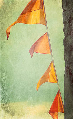 Digital Art - Orange Banners by Valerie Reeves