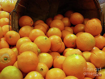 Photograph - Orange Basket by Methune Hively