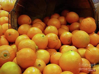 Photograph - Orange Basket by Methune Hively