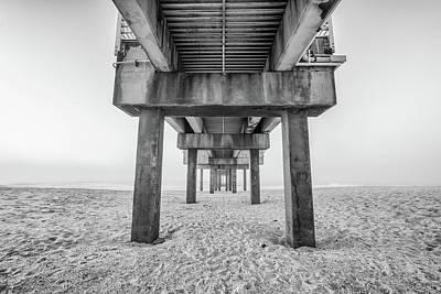 Photograph - Orange Beach Pier Black And White by John McGraw
