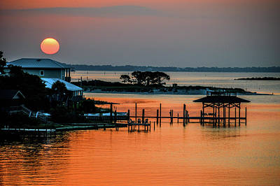 Photograph - Orange Beach Sun by Michael Thomas