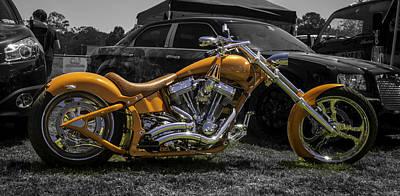 Truck Art - Orange Bike by Michael  Podesta