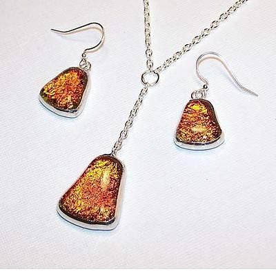 Sterling Silver Bracelet Jewelry - Orange Blaze Dangle by Kelly DuPrat