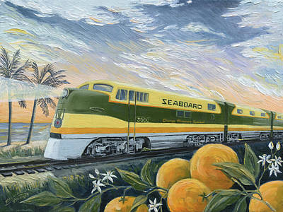 Painting - Orange Blossom Special by Paula Blasius McHugh