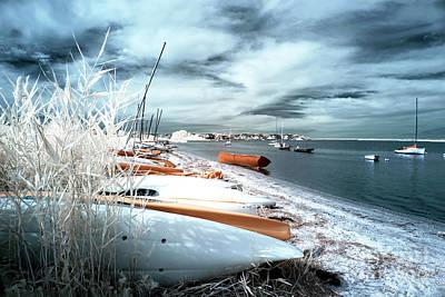 Orange Boat At Lbi Art Print