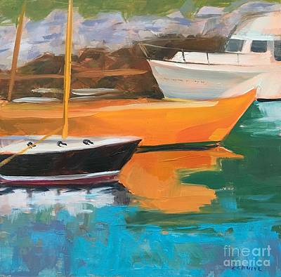 Painting - Orange Boat by Lynne Schulte