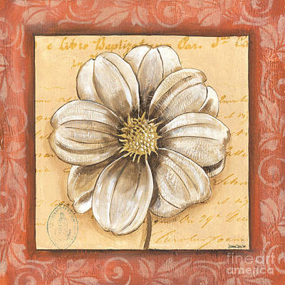 Orange Bohemian Dahlia 1 Art Print by Debbie DeWitt