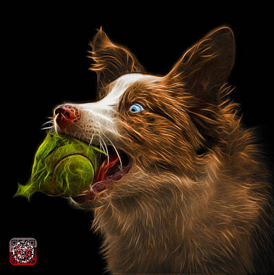 Painting - Orange Border Collie -  Elska - 9847 - Bb by James Ahn