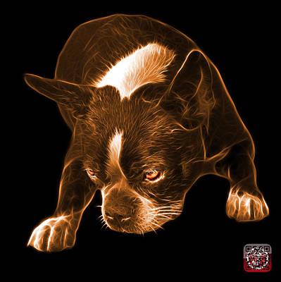Mixed Media - Orange Boston Terrier Art - 8384 - Bb by James Ahn
