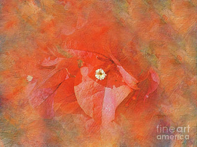 Impressionism Photos - Orange Bougainvillea Art by Kaye Menner by Kaye Menner