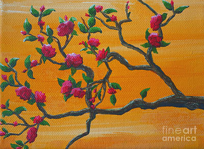 Painting - Orange Branch by Julia Underwood