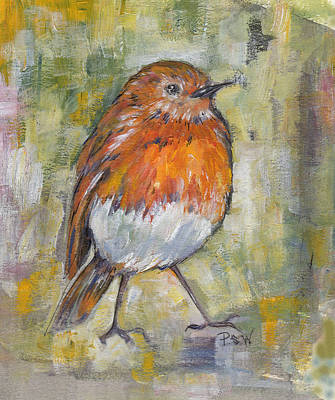 Painting - Orange Breasted Bird by Peggy Wilson