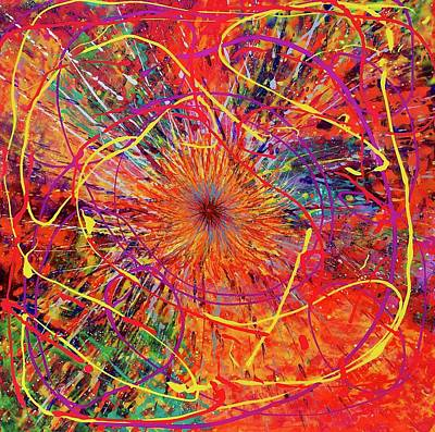 Painting - Orange Burst 16-14 by Patrick OLeary