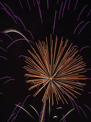 Photograph - Orange And Pink Firework by Paula Porterfield-Izzo