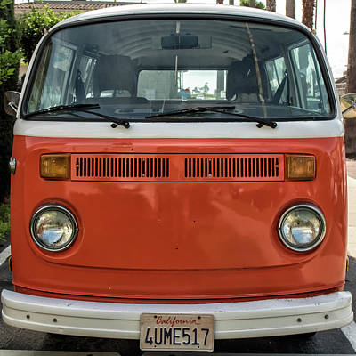 Photograph - Orange Bus by Eric Lake