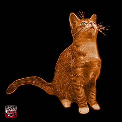 Painting - Orange Cat Art - 3771 Bb by James Ahn