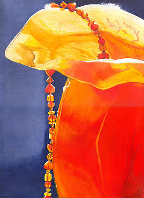 Alabaster Painting - Orange by Catherine G McElroy
