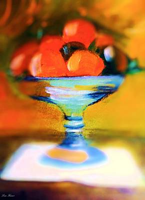 Still-life Painting - Orange Center Piece by Lisa Kaiser