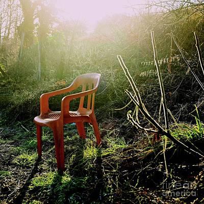 Orange Chair Art Print by Bernard Jaubert