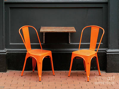 Photograph - Orange Chairs by Jim Orr