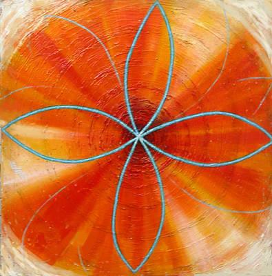 Orange Chakra Art Print by Anne Cameron Cutri