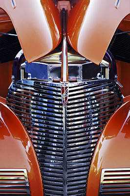 Orange Chevrolet Grille Art Print