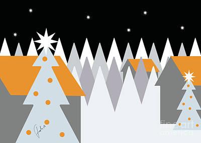 Holyland Digital Art - Orange Christmas by Fady Dow