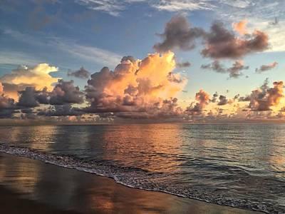 Photograph - Orange Cloud  by Juan Montalvo