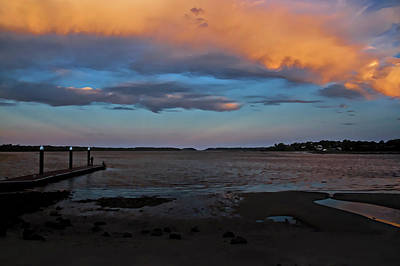 Photograph - Orange Clouds At Greenwell Point by Miroslava Jurcik