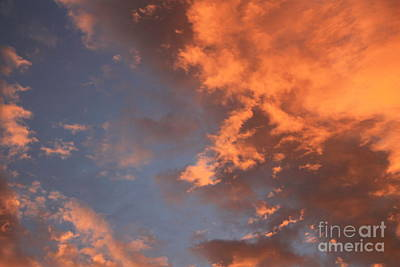 Photograph - Orange Clouds In Blue Sky by Julie Kindt