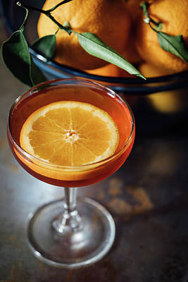 Food And Beverage Royalty-Free and Rights-Managed Images - Orange Cocktail by Happy Home Artistry