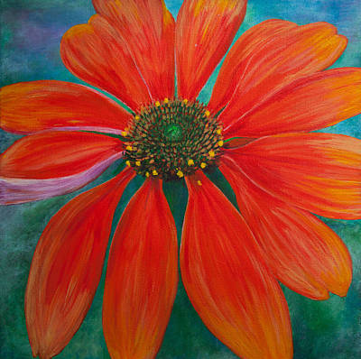 Painting - Orange Coneflower by Amber Woodrum