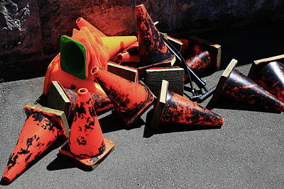 Photograph - Orange Cones In A Jumble by Nareeta Martin