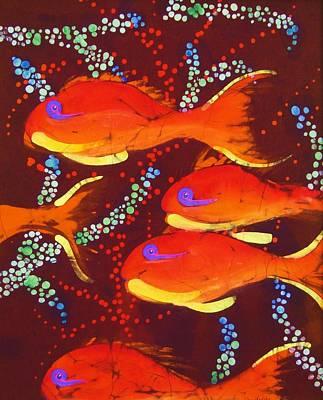 Orange Coral Reef Fish Art Print