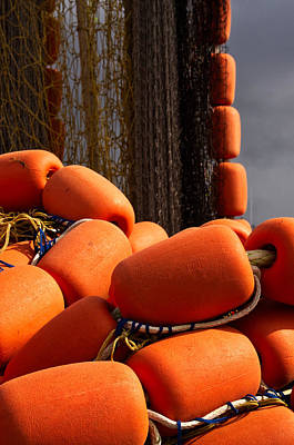 Photograph - Orange Corks by Cathy Mahnke