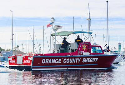 Photograph - Orange County Sheriff by Carol Tsiatsios