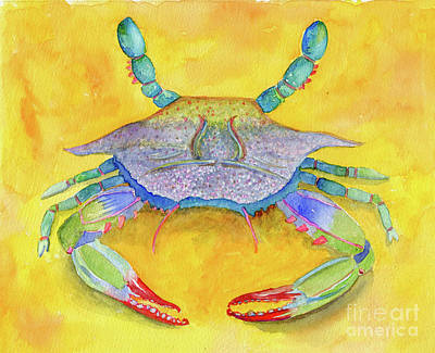 Painting - Orange Crab by Anne Marie Brown