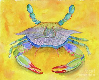 Painting - Orange Crab by Anne Marie Brown