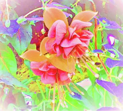 Digital Art - Orange Crush Fuchsia by Ann Johndro-Collins