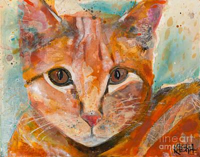Modern Feathers Art - Orange Crush by Kasha Ritter