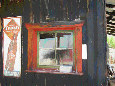 Digital Art - Orange Crush Orange Window by David King