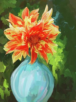 Painting - Orange Dahlia by Jai Johnson