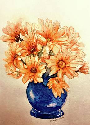 Painting - Orange Daises by Nancy Wait