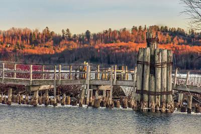 Marquette Digital Art - Orange Dock by Bradley J Nelson